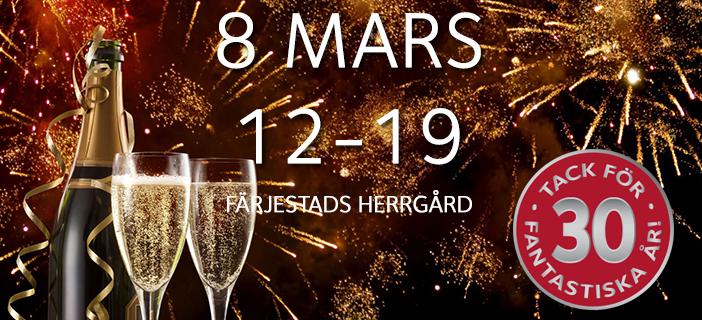 Vi firar 30 år! Kom och fira med oss!